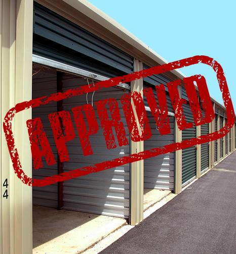 Baugenehmigung für Lagercontainer
